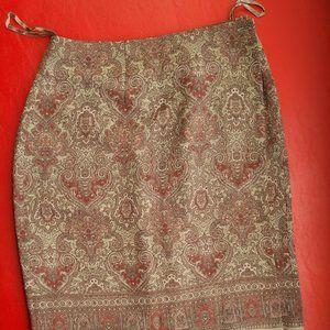 Wrap around pencil skirt